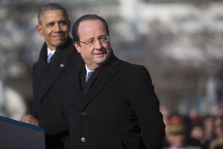 Präsidenten Obama, Hollande in Washington, DC