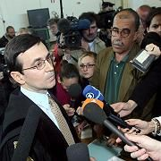 Alberto Biffani, Mario Lozano's lawyer at the opening of the trial on Tuesday.
