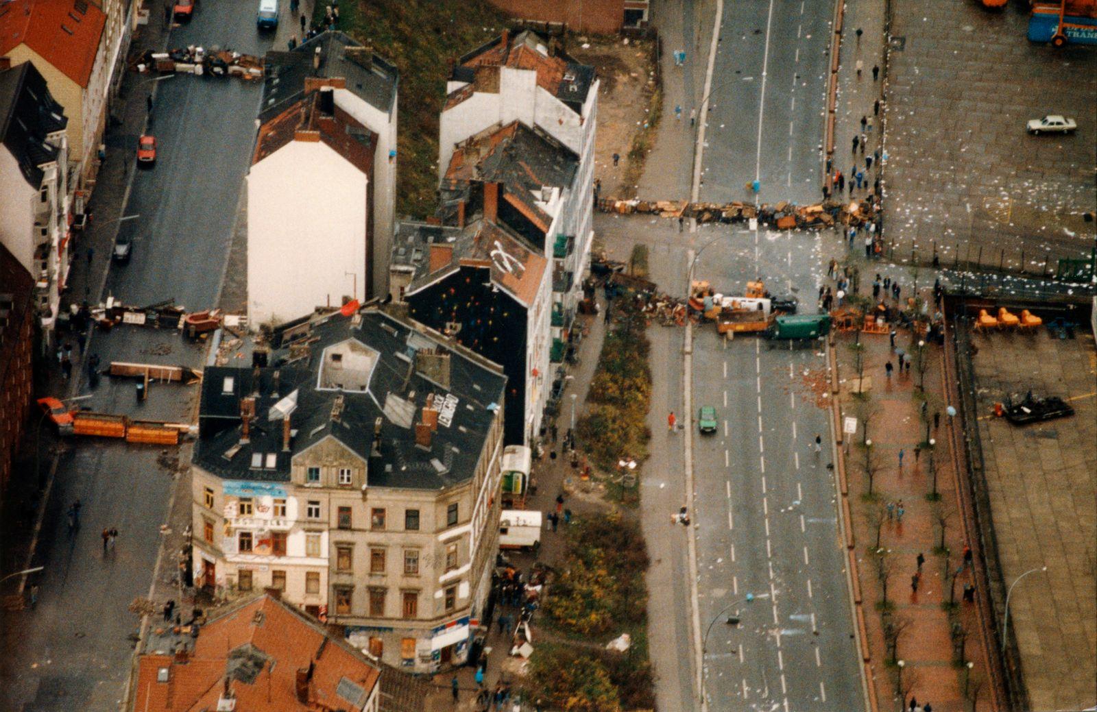 Hamburg Hafenstraße, November 1987