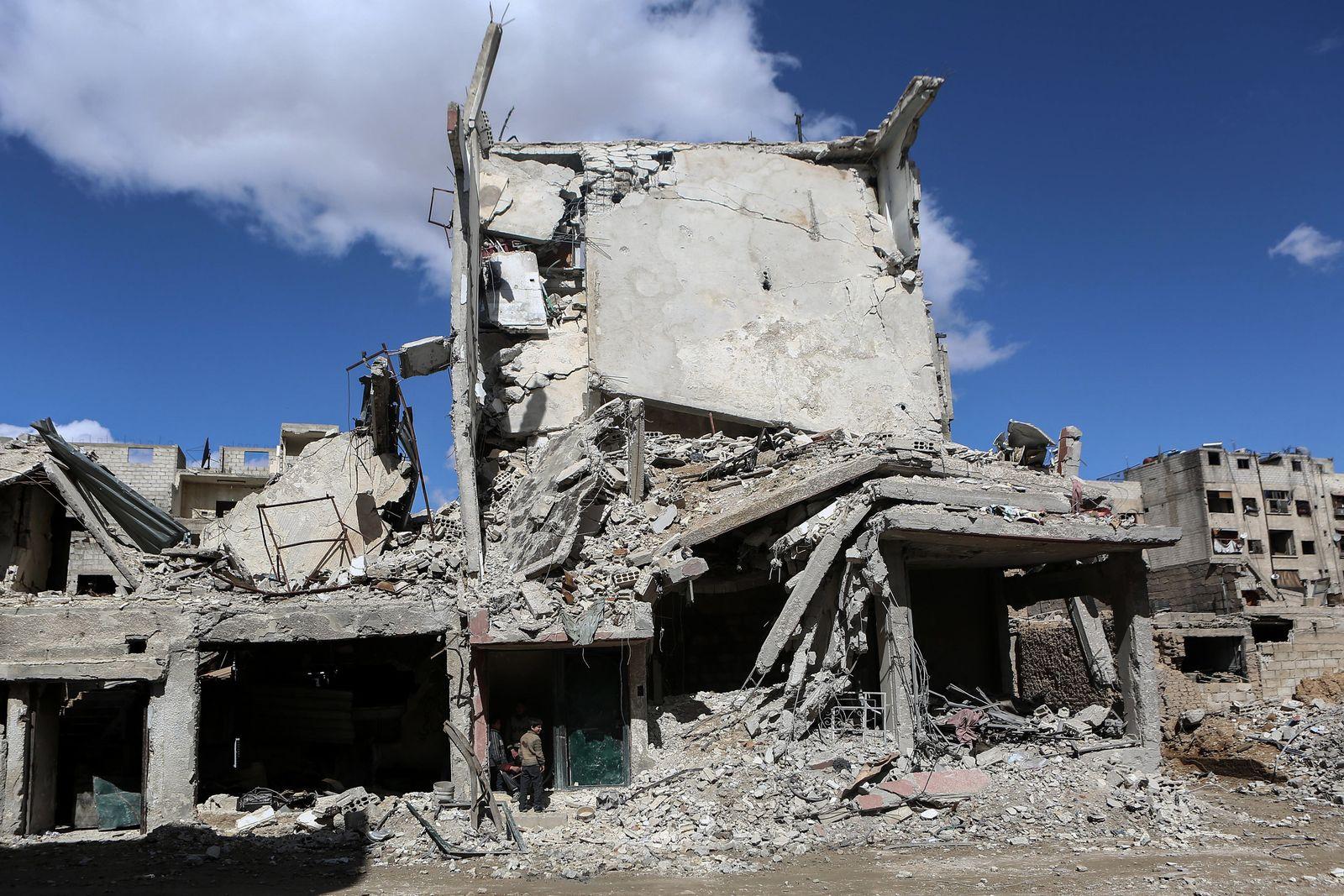 Zerstörung in Ost-Ghouta