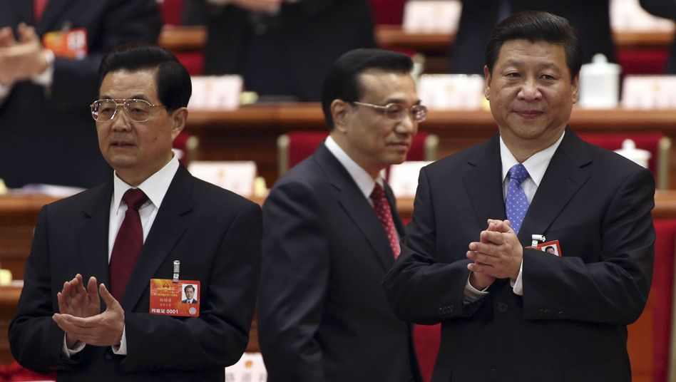 Former Chinese President Hu Jintao (left) and his successor, Xi Jinping (right): Politicians in Beijing were targets of NSA espionage.