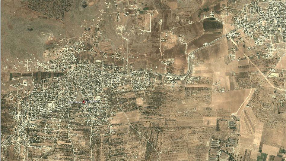 Kafar Roma in Syrien: Unter anderem hier hat sich der IS-Unterstützer aufgehalten - das sagen zumindest die Geodaten seiner Tweets