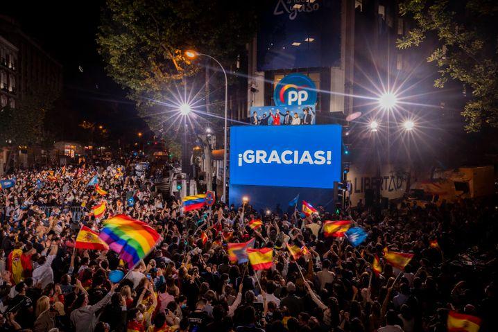 In Madrid waren mehr als fünf Millionen Einwohner zur Wahl aufgerufen