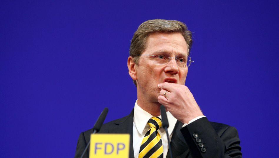 FDP-Chef Westerwelle: Abwärtstrend setzt sich fort