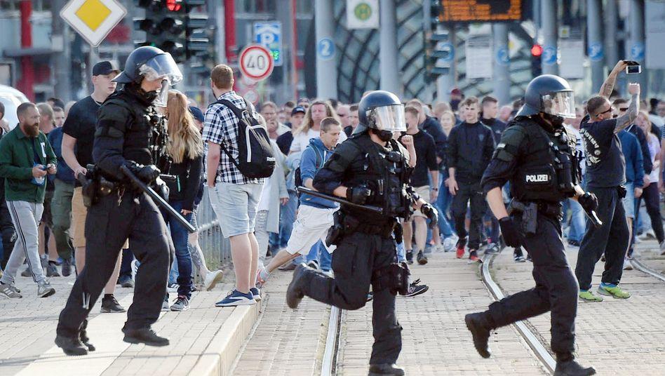 Polizeieinsatz in Chemnitz am Sonntag