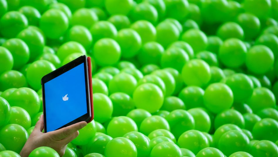 Bällebad auf einer Netzkonferenz: Manche Nutzer sind auf Twitter regelrechte Stars