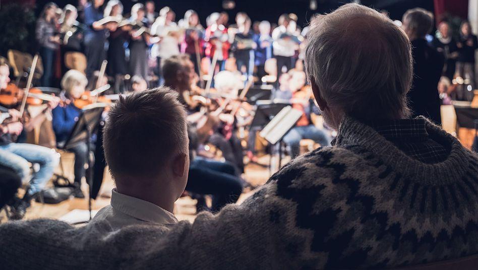 Willi bei der Orchesterprobe