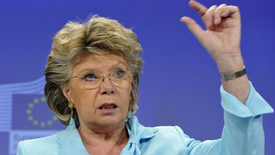 """EU-Justizkommissarin Reding: """"Das bisherige Vorgehen der Amerikaner ist schockierend"""""""