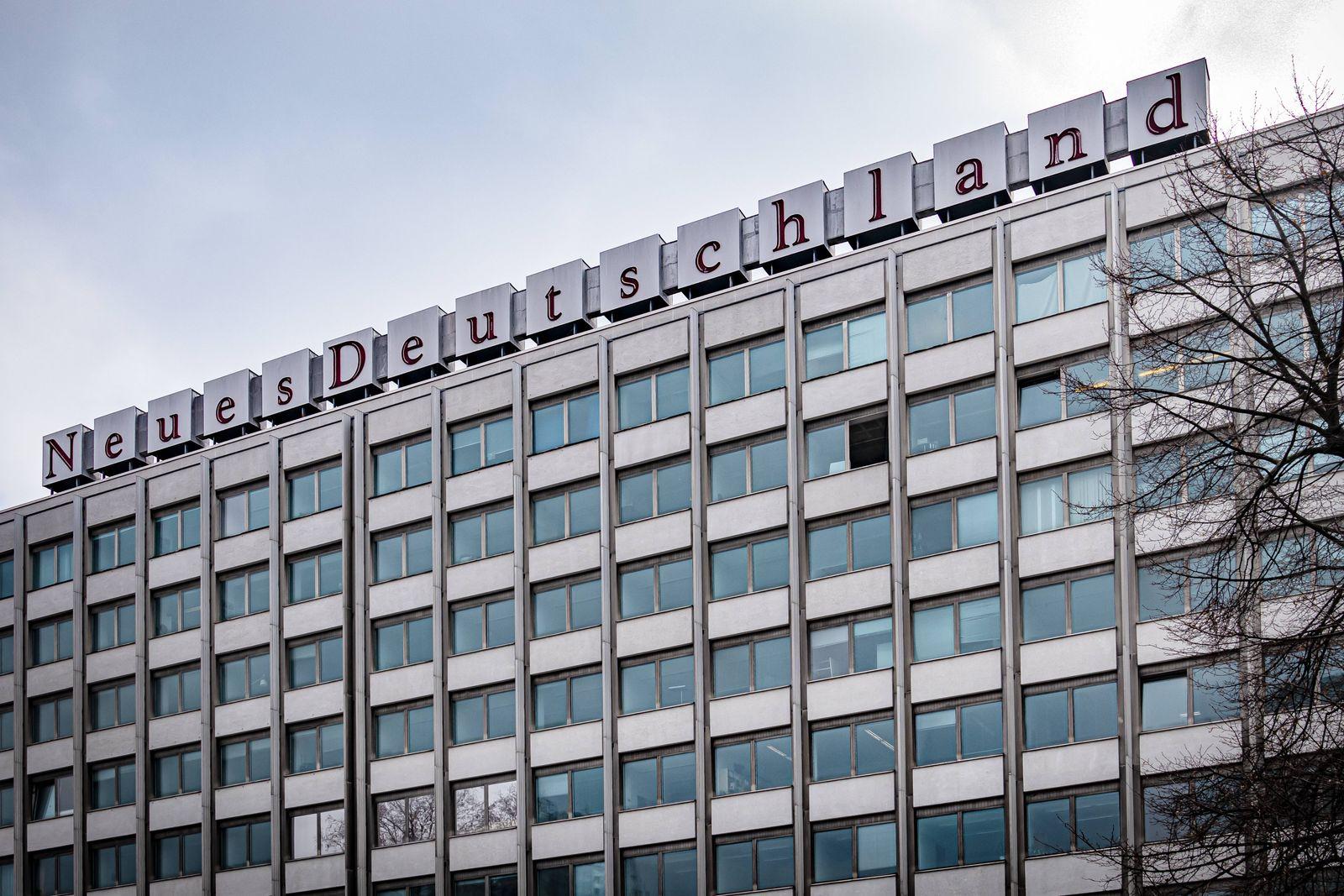 Berlin Friedrichshain; Verlagshaus Neues Deutschland - sozialistische Tageszeitung am Franz-Mehring-Platz 1 Friedrichsha