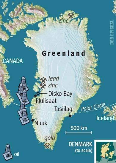 Greenland's natural resources.
