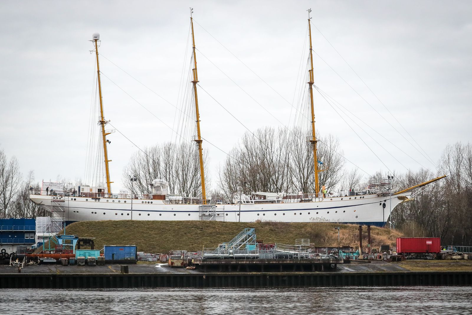 German Navy's sailing school ship Gorch Fock almost completed, Berne, Germany - 18 Feb 2021
