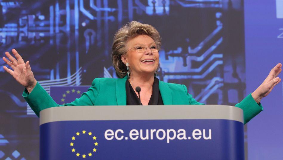 """EU-Kommissarin Reding: """"Geschafft"""""""