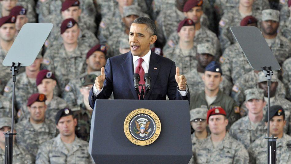 US-Präsident Barack Obama beim Truppenbesuch: Unbegrenzte Haft für Terrorverdächtige