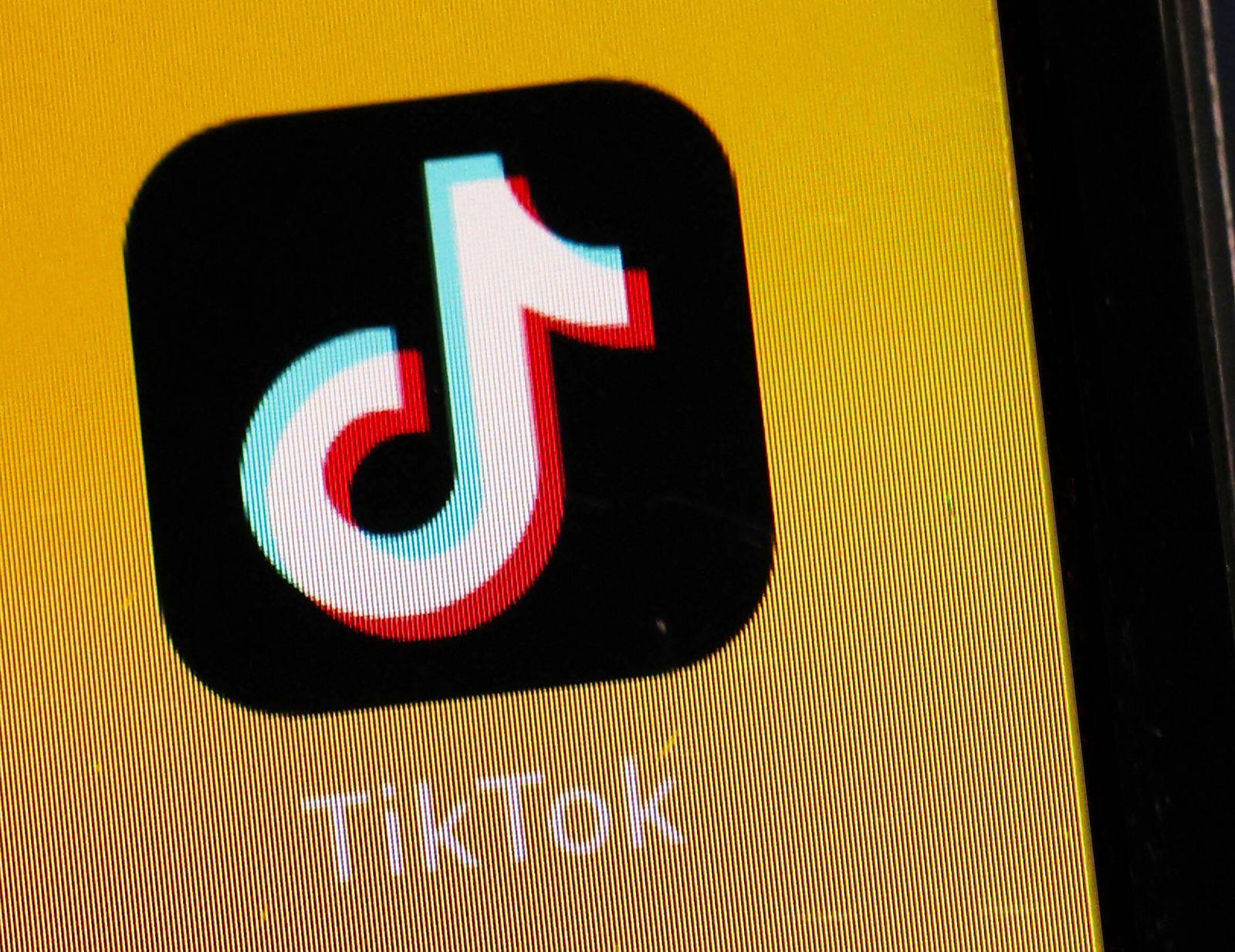 TikTok logo Photo taken Aug. 1, 2020, in Tokyo shows the logo of video-sharing social networking service TikTok. PUBLIC