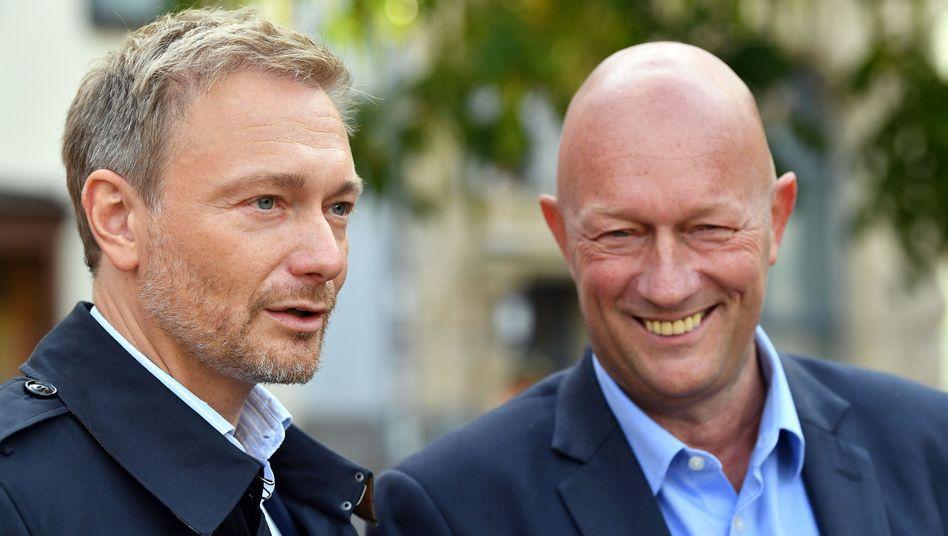 """FDP-Politiker Lindner und Kemmerich: """"Wir wollen die Regierung Ramelow ablösen"""""""