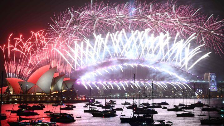 Silvester-Feuerwerk in Sydney: Als wäre nichts