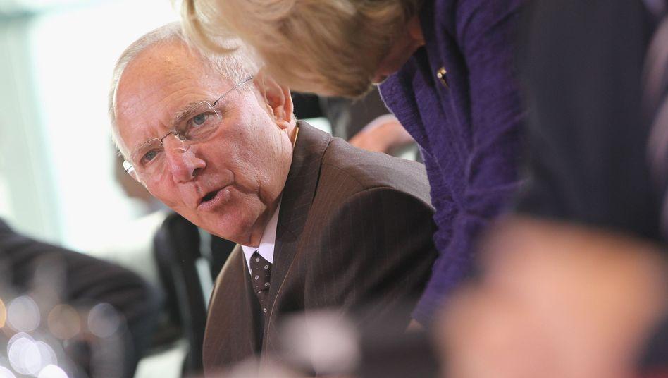 Finanzminister Schäuble: Herabstufung befürchtet