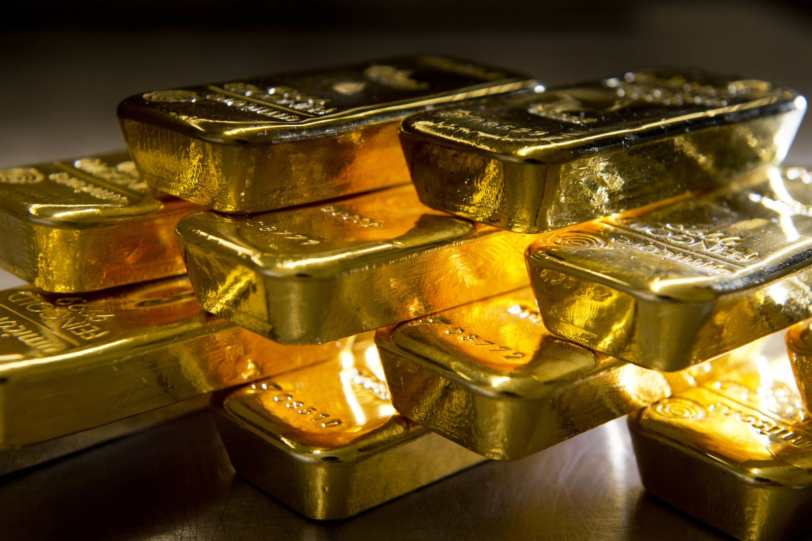 Goldbarren im Tresor des Goldhandels Pro Aurum Muenchen 16 02 2016 Muenchen Deutschland PUBLICATIO