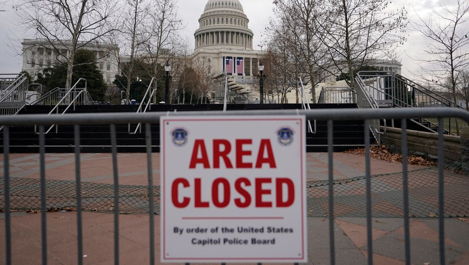 Die Gegend um das Kapitol wird weiträumig abgesperrt