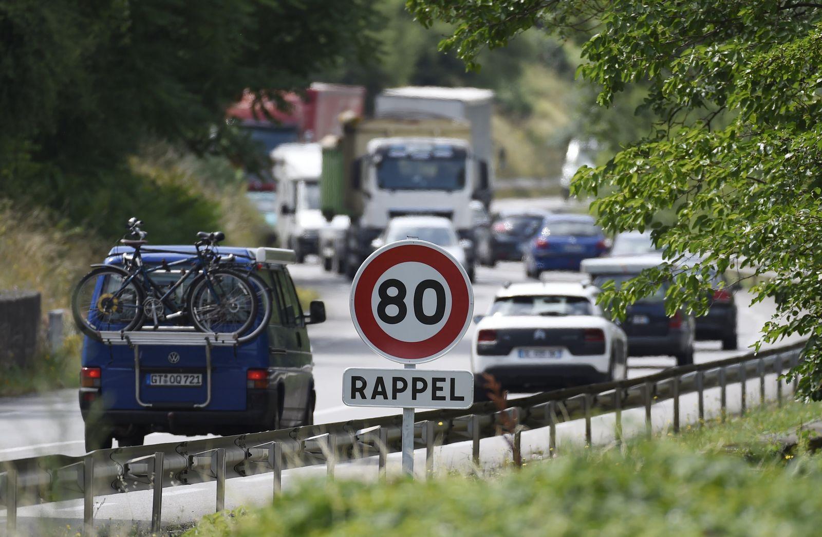 Frankreich Tempo 80 auf Landstraßen