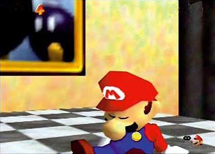 Inszenierung: Mario als schlafende Unschuld