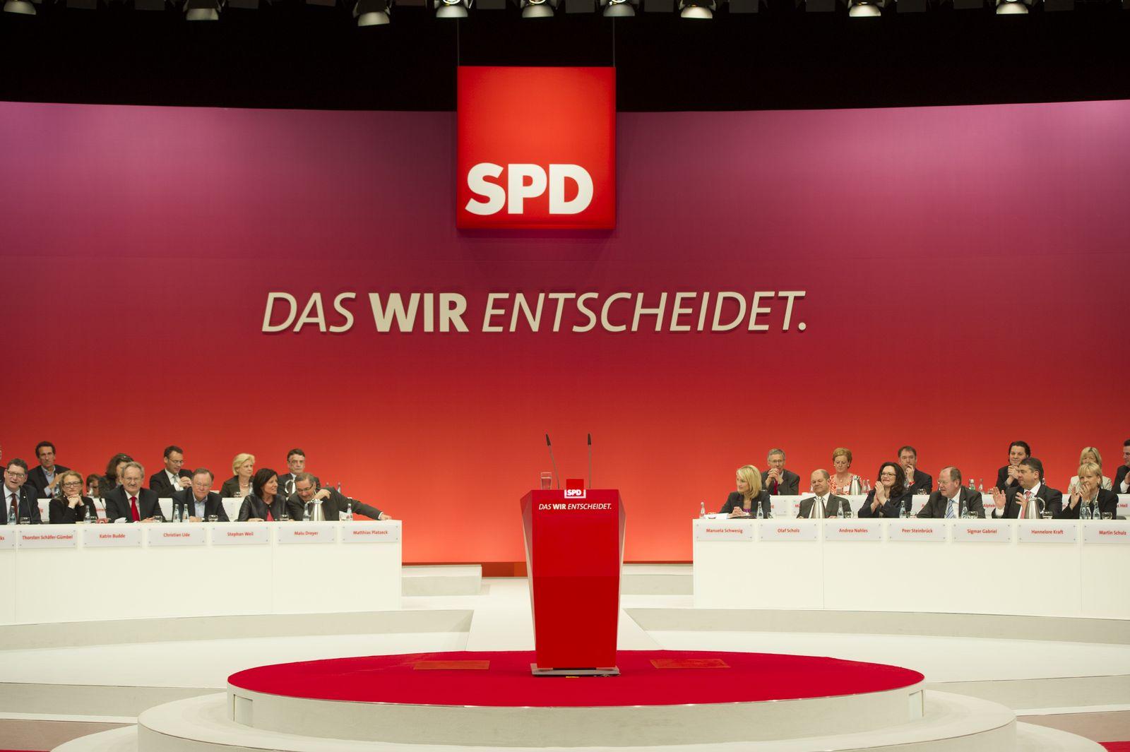 EINMALIGE VERWENDUNG SPD Bundesparteitag Augsburg/ Hinter den Kulissen