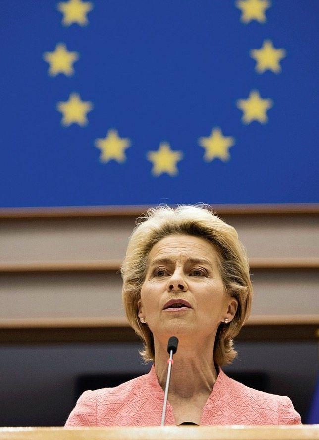 "European Commission President Ursula von der Leyen: ""It won't be enough just to hand out a few warm blankets."""