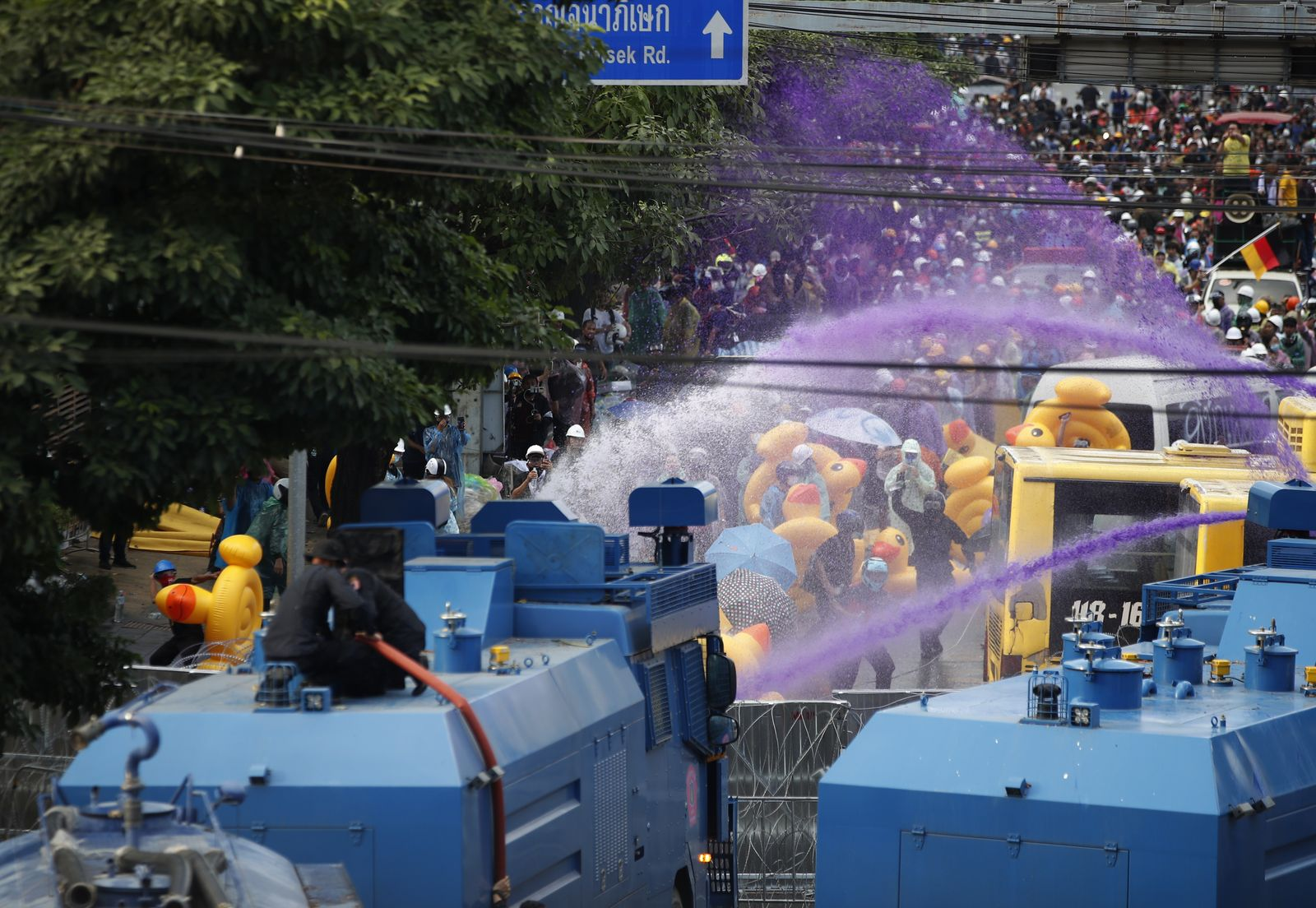 Demonstrations during parliament session over the rewrite of constitution, Bangkok, Thailand - 17 Nov 2020