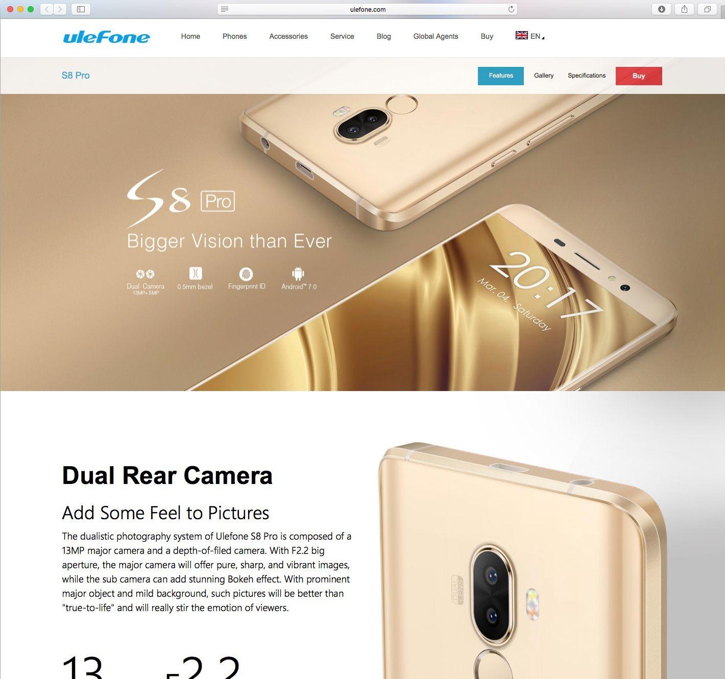 EINMALIGE VERWENDUNG Ulefone/ S8 Pro/ Schadsoftware