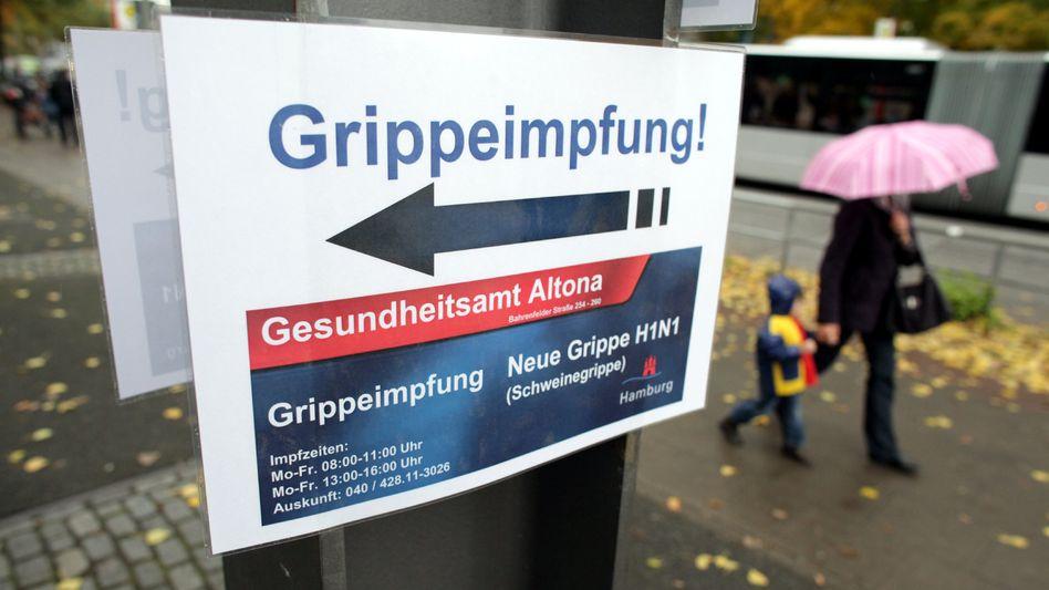 Hinweis auf Grippeimpfung in Hamburg: Im Winter droht die Influenza-Welle