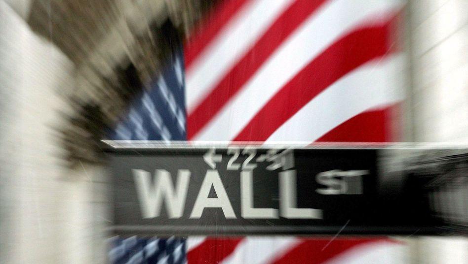 Straßenschild an der Wall Street: Hohe Boni, trübe Aussichten