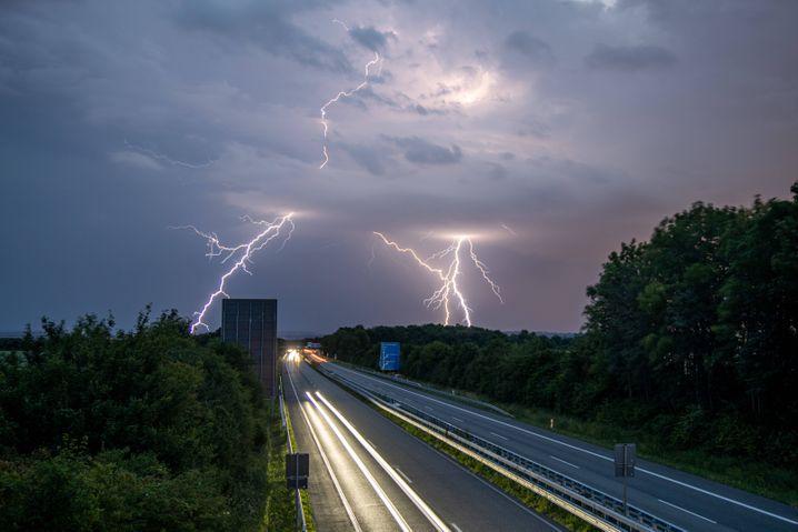 Gewitter im hessischen Oberurselam Samstag: Heftige Unwetter