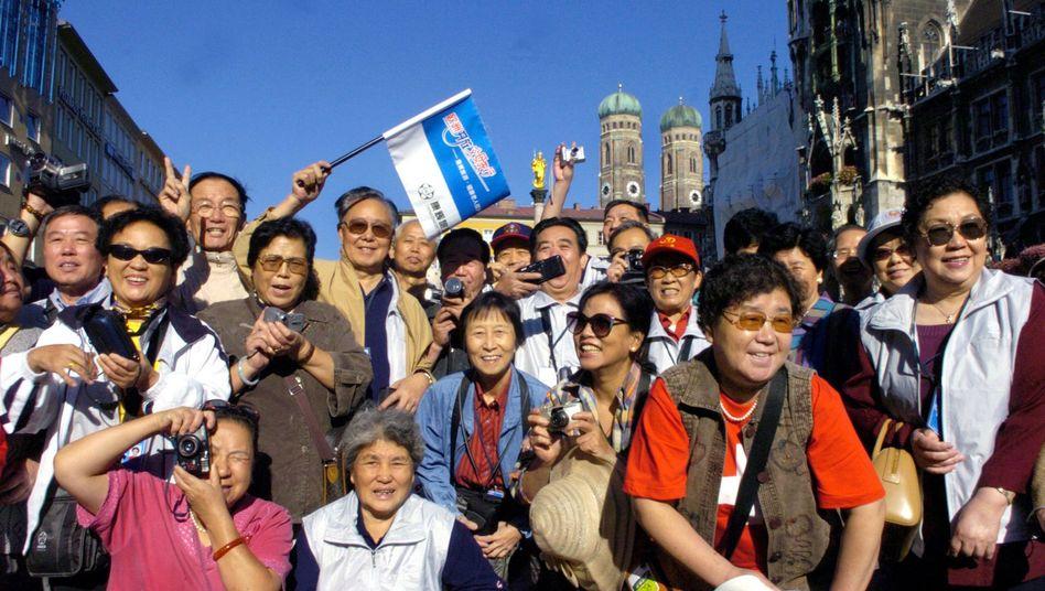 Touristen in München: Die Zahl der Urlauber aus China in Europa steigt stark an