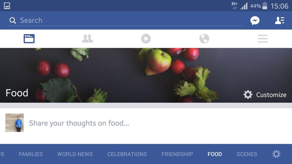 Newsfeed für Essensthemen