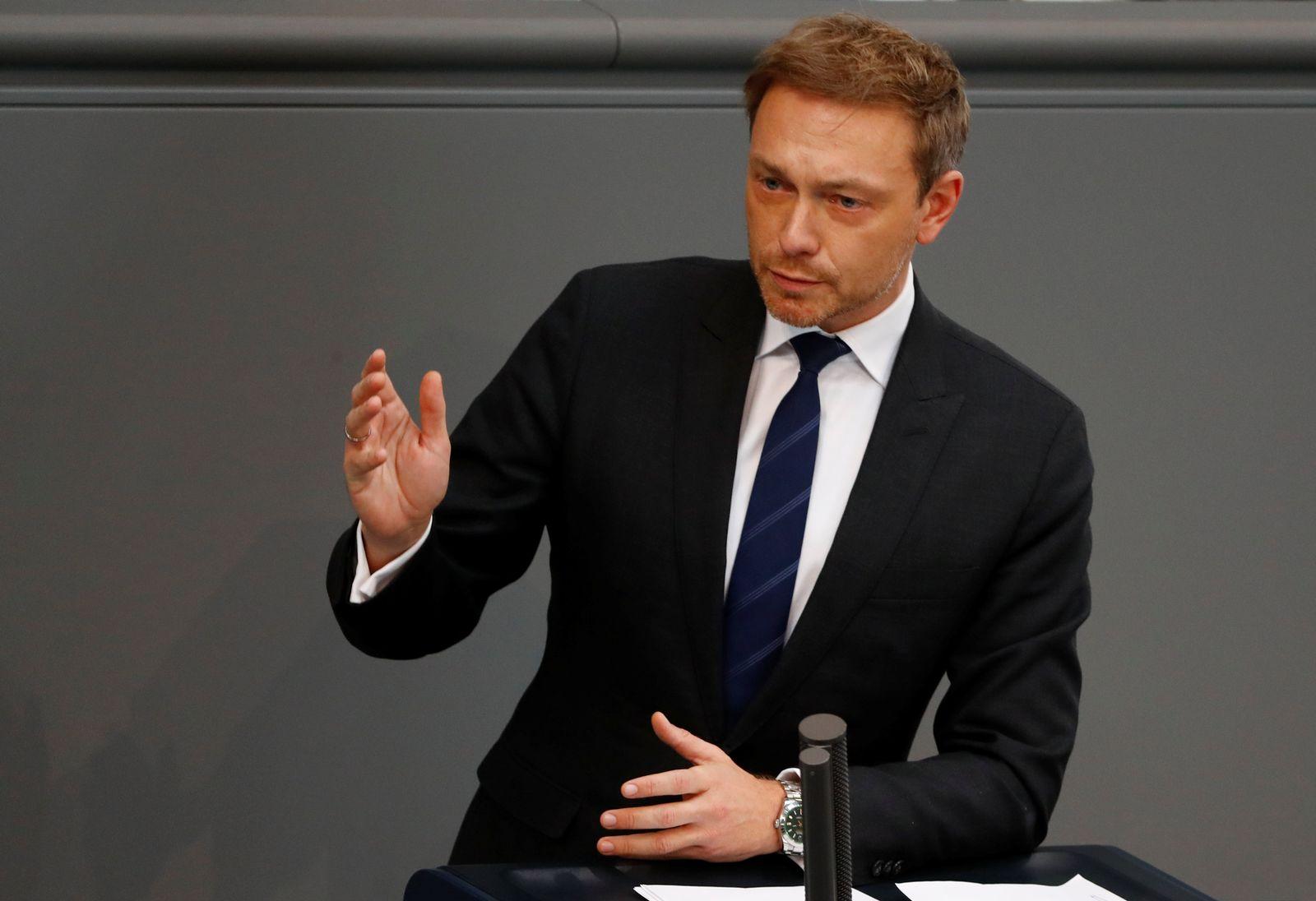 Regierungserklärung/ Bundestag/ Lindner