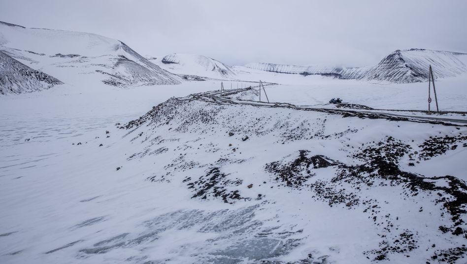 A retreating glacier in Svalbard, Norway