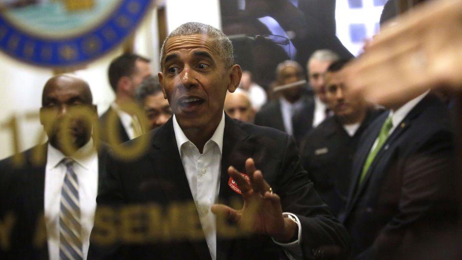 Barack Obama in Gerichtsgebäude