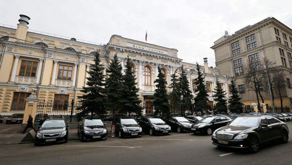 """Russische Zentralbank in Moskau: """"Dramatischer Anstieg"""" der Kapitalflucht"""