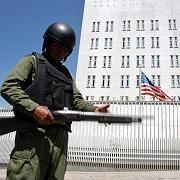 Polizist vor US-Botschaft in Bolivien: Diplomatischer Krieg mit Washington