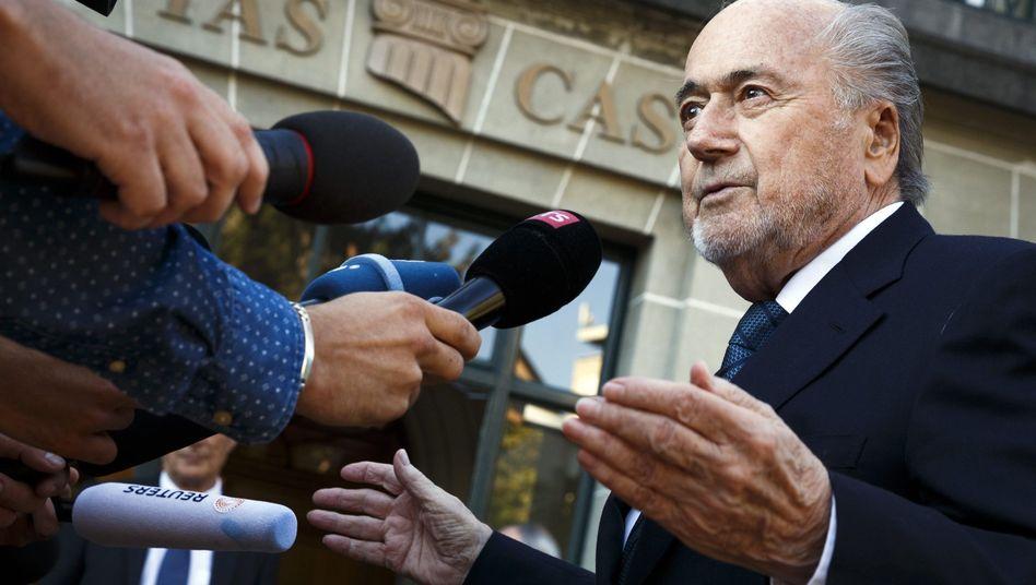 Ex-Fifa-Boss Joseph Blatter vor der Cas-Verhandlung