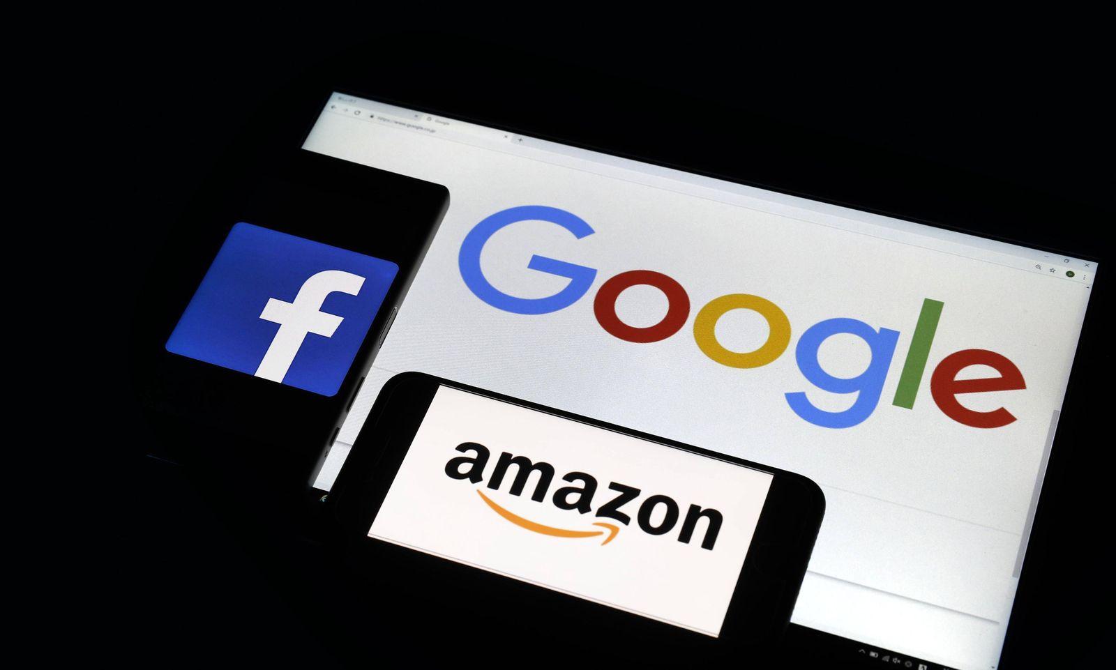 EINMALIGE VERWENDUNG Google, Amazon, Facebook