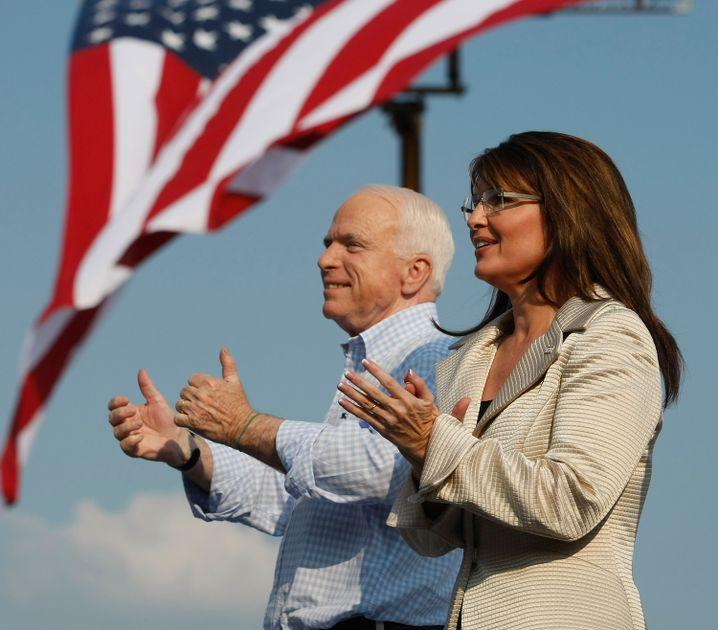 John McCain mit Sarah Palin (2008)