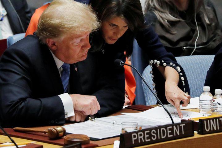 Trump und Haley an der Uno