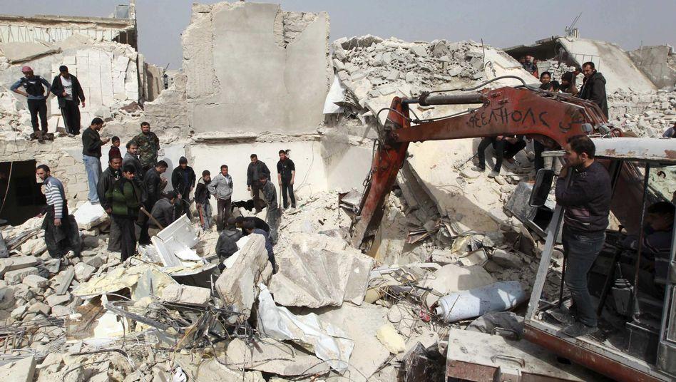"""Zerstörte Gebäude in Aleppo: """"Ein neuer Tiefpunkt"""""""