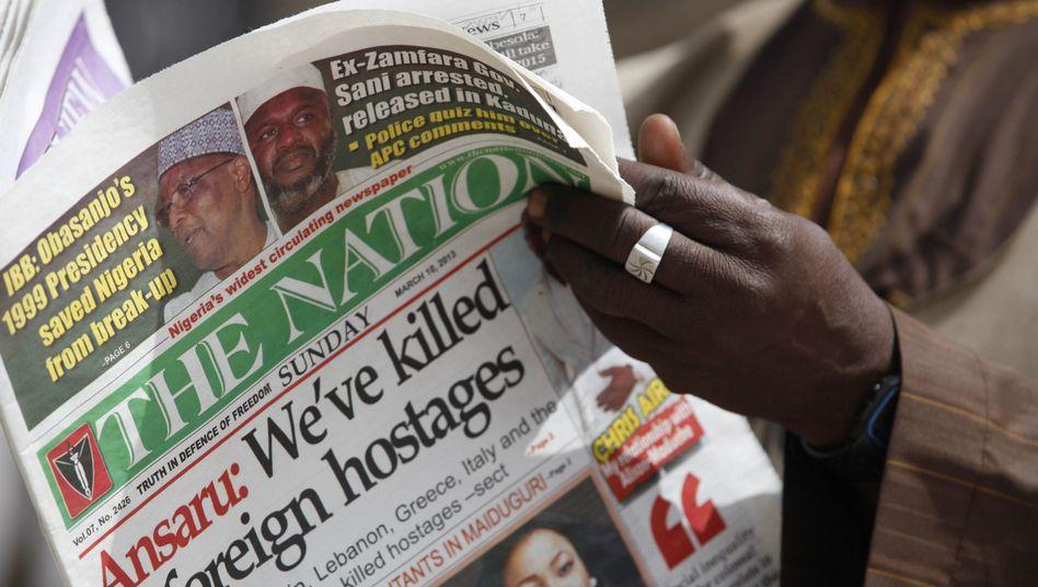Zeitung in der nigerianischen Stadt Kano: Blutige Geiselnahme