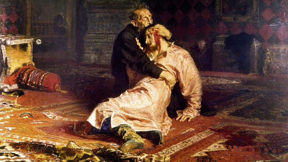 DESPOT, BIBELKENNER, FELDHERR Eine tief gespaltene Persönlichkeit war der erste Zar Iwan IV., genannt »der Schreckliche«. Im Streit erschlug der jähzornige Herrscher 1581 einen seiner Söhne.