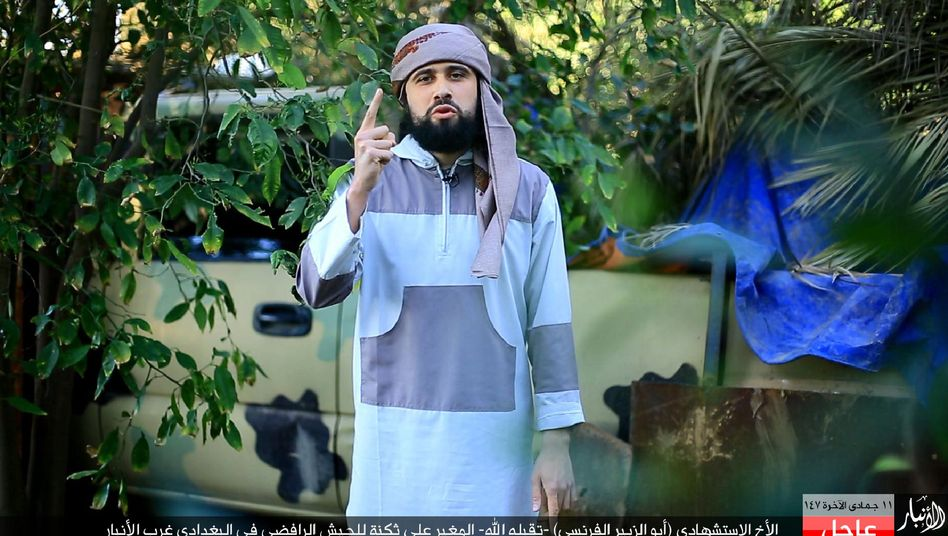 A photograph published by the media branch of Islamic State in Iraq's Anbar Province purports to show a French fighter with the terrorist organization.