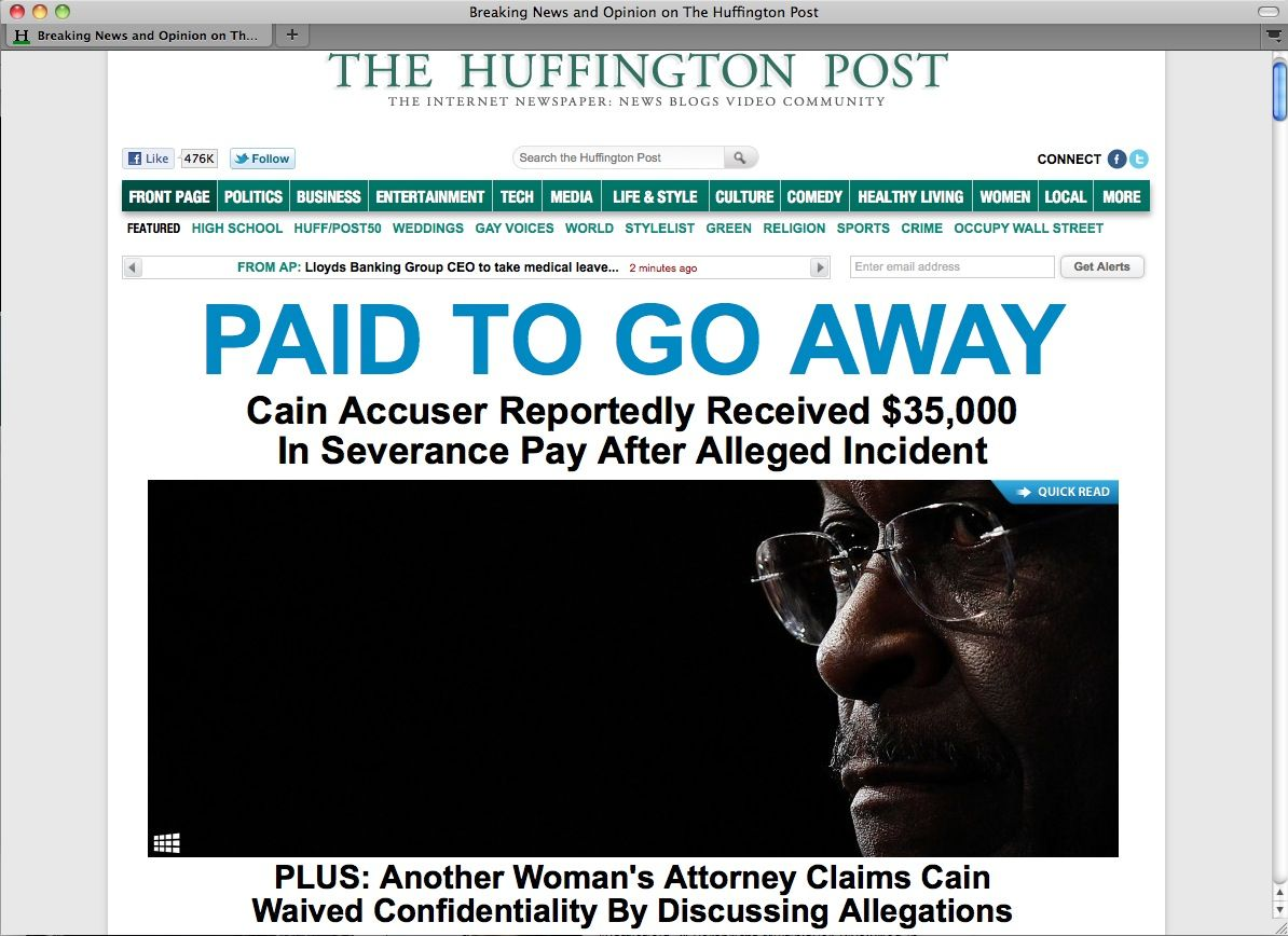 EINMALIGE VERWENDUNG SCREENSHOT Huffington Post / NETZWELT
