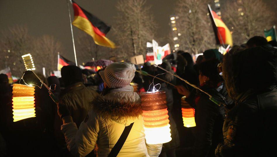 "Pegida-Versammlung in Dresden (5. Januar 2015): ""Name viel zu nett"""