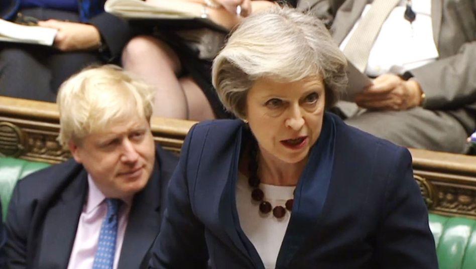 Theresa May, Boris Johnson